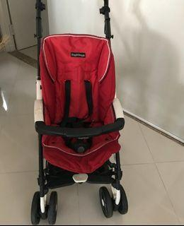 Stroller Pegperego Merah