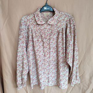 Thrift Impor - Kemeja Flower Vintage