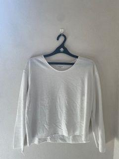 white korean oversized sweater