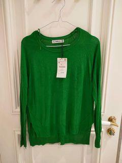 ZARA brand new with tag green knit sweater