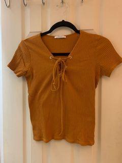 Zara front-tie top