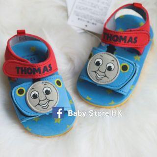 1對$68@,2對$60@對❤限量優惠❤  Thomas 火車頭 ( 13-15cm)  日本原單 嬰兒BB 男童女童BB小童鞋 沙灘鞋 涼鞋 全新 賣完冇補貨
