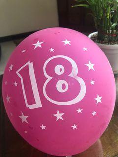 18th birthday pink balloons No.6