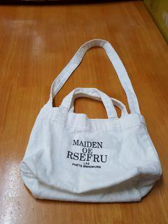 9802 MAIDEN OF RSEFRU帆布斜揹袋 $5