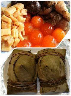 自家製豐料日本瑶柱原隻蛋黃冬菇瘦五花肉綠豆咸肉粽