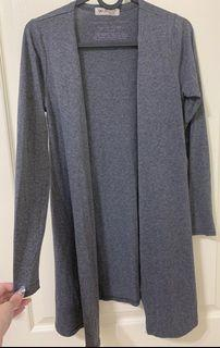 🔗正韓 灰色針織薄長袖罩衫
