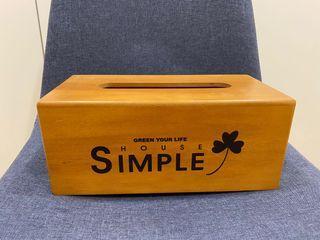 免費/生活工場 木質面紙盒
