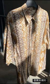 古著襯衫 埃及圖騰 民族風
