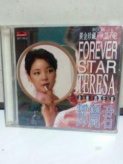 鄧麗君 永恆的巨星 第一輯 圖案金碟 CD 原裝舊版 保存新淨 台灣寶麗金股份有限公司 1995年
