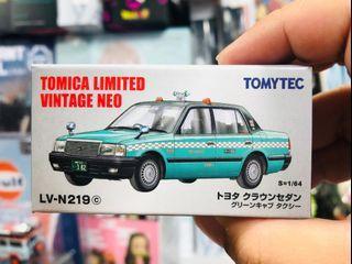現貨 Tomytec Tomica Limited Vintage LV-N219c Toyota Crown SEDAN Taxi Green Cab
