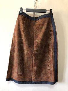 泰國製復古古著蛇皮紋及膝裙 XL號