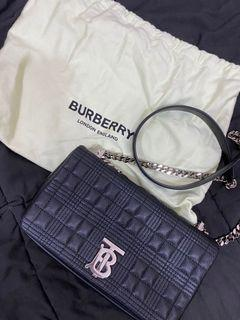 代友售二手-BURBERRY TB Lola Bag 小號絎縫粒面皮革lola包