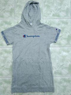 Champion (girl) hoodie lengan pendek
