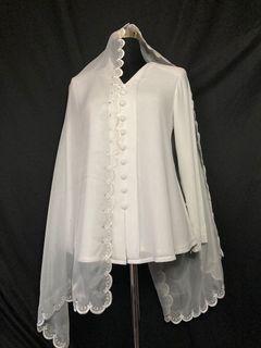 DEFECT AS IS Veil sulam pengantin nikah sanding