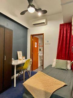 Find A Room In Kuala Lumpur Area😱  Fully Furnished room WITHOUT Deposit From RM 700 Only👏🏻  with private 🛁bathroom prefer Muslim Ladies! 🧕
