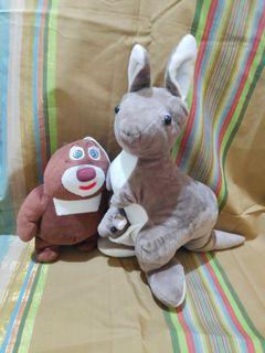 Kangaroo and Bear Stuffed toy bundle