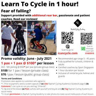 Learn to cycle in 1 hour / bicycle lesson / cycling coach / instructor / teacher