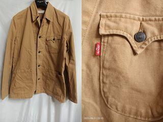 貓小姐-男裝L#Levis香港製工裝外套 卡其 保存不錯#找貨碼43