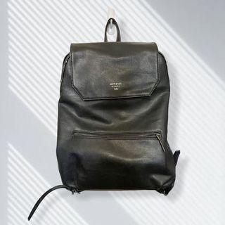 Matt & Nat Vegan Leather Large Double Zip Backpack - Fair Condition