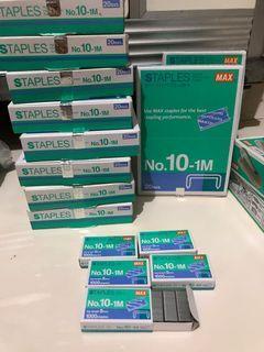 MAX Isi Staples Kecil no 10-1M Original (1 Box isi 20 kotak)