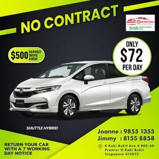 No Contract - Honda Shuttle Hybrid          (Grab Fleet Partner PHV Car Rental)