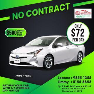 No Contract - Toyota Prius Hybrid          (Grab Fleet Partner PHV Car Rental)