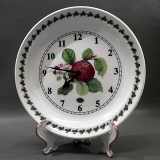 英國PORTMEIRION 10吋陶瓷盤掛鐘.桌鐘含展架