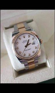 Rolex 2013 Datejust with Big Diamonds