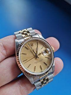 Rolex Datejust Two-Tone Champagne Tapestry 36mm Auto
