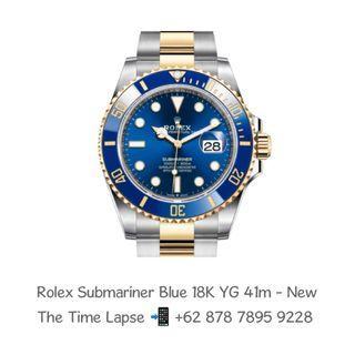 Rolex Submariner Blue Sunburst Steel & 18K Yellow Gold 'Random' - New In Box - 41mm