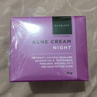 SCARLETT acne cream night