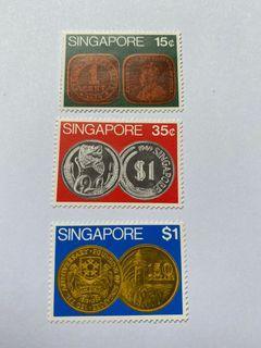Singapore 1972 coins mnh