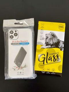 Soft Casing & Tempered Glass iPhone 11 Pro Max
