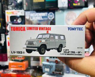 Tomytec Tomica Limited Vintage LV-193a Toyota Land Cruiser FJ56V Police Car