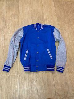 Varsity jacket blue grey