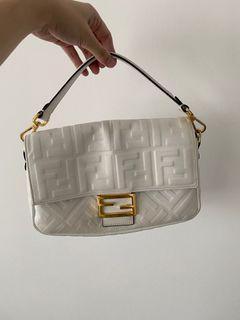 White Fendi Baguette Bag