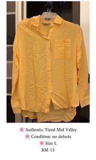 Women Shirt Yellow Top