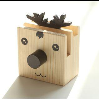 Wooden Deer Stationery Holder (8cm x 10cm), Spectacles Holders, Phone holders, Work from Home Stationery