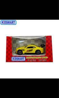 Yellow racing car toy