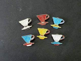 100% New Coffee Dripper  Pins 咖啡師 濾杯 精品咖啡 襟針