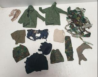 12 inch army figure  uniform accessories lot