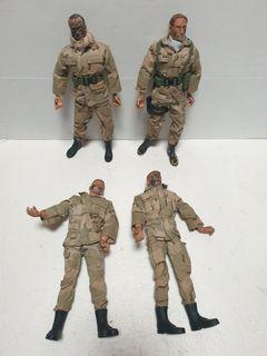 12 inch army soldiers figure lot C