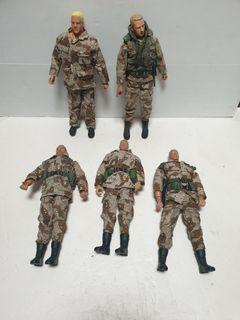 12 inch army soldiers  figures lot A