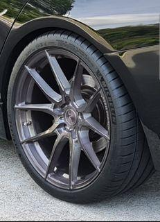 """19"""" BMW Flow Forged rims w Michelin PS4S"""