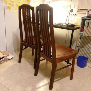 木頭椅*2