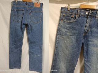 貓小姐-男裝32腰#Levis502tm加工潑漆 窄版彈性牛仔褲褲長100#找貨碼39