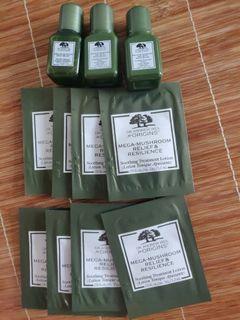 $45包郵 Origins mega mushroom relief and resilience soothing treatment lotion 1.5ml*8 + 7ml*2 Origins mega mushroom relief and resilience micellar cleanser 7ml