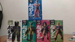 全新日版龍珠超彩色5盒 斯路初及完全,那巴,比達(4盒全新未拆) 菲利大王(已拆,彷如全新) 荃灣交易