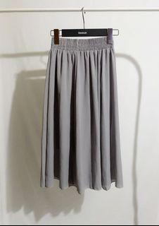大象灰氣質中短裙