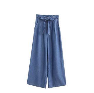 逆天長腿歐膩的綁帶寬褲💗 #女裝賣家 #618